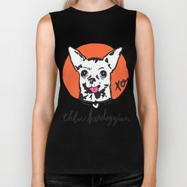 Chloe Kardoggian Illustration with Signature Biker Tank