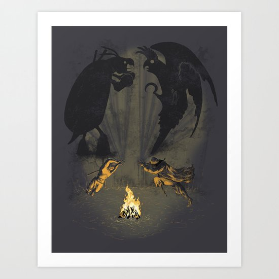 Let's settle it - in the shadows.  Art Print