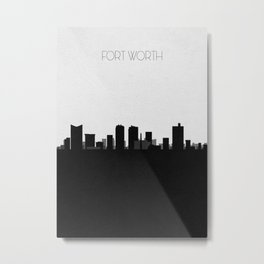 City Skylines: Fort Worth Metal Print