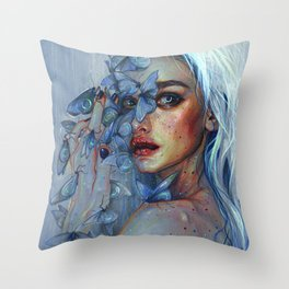 Lunar Pollen Throw Pillow