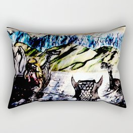 Hostile Shores A Year And A Day Rectangular Pillow