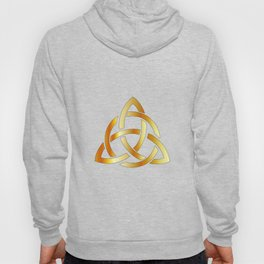 Golden triquetra celtic cross-3 point Celtic Trinity knot Hoody