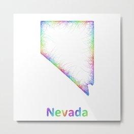Rainbow Nevada map Metal Print
