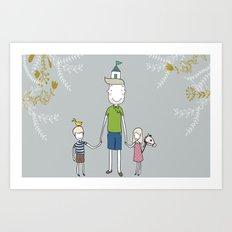 Daddy's home. Art Print