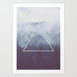 Photography - Triangle in the forest Art Print