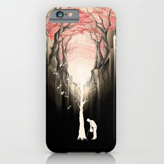Revenge of the nature II: growing red forest above the city. iPhone & iPod Case