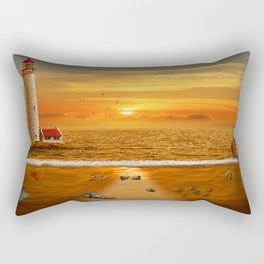 The view above and under water Rectangular Pillow