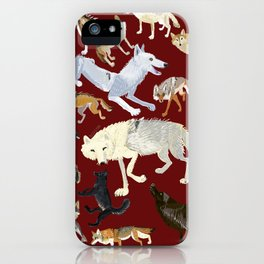 Wolves of the world Red Version iPhone Case