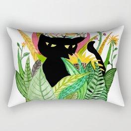 Cat Flower Rectangular Pillow