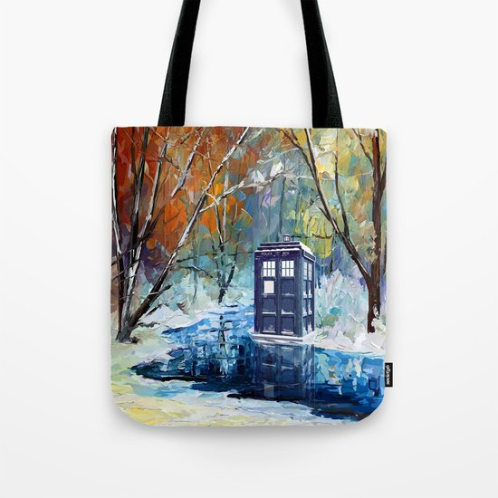 Starry Winter blue phone box Digital Art iPhone 4 4s 5 5c 6, pillow case, mugs and tshirt Tote Bag
