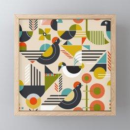 Bauhaus style birds Framed Mini Art Print