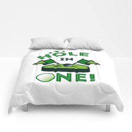 Funny Golf Gift Golfer Golfing Hole In One Comforters