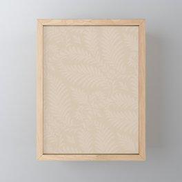 Pantone Hazelnut Fancy Leaves Scroll Damask Pattern Framed Mini Art Print
