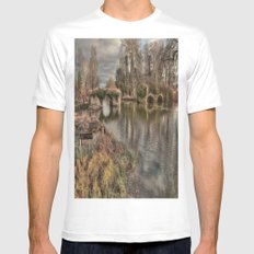 Broken Bridge MEDIUM White Mens Fitted Tee