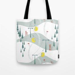 Retro Ski Tote Bag