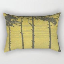Art Nouveau Pines Rectangular Pillow