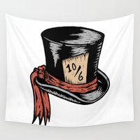 mad hatter Wall Tapestries featuring Mad Hatter by Countmoopula