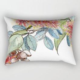 Floral Christmas Wreath, Illustration Rectangular Pillow