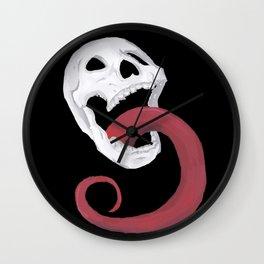 Rocker Skull Wall Clock
