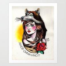 Chica Lobo Art Print