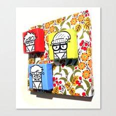 Little Hipster Guys Canvas Print