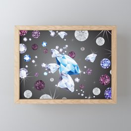 The diamond galaxy Framed Mini Art Print