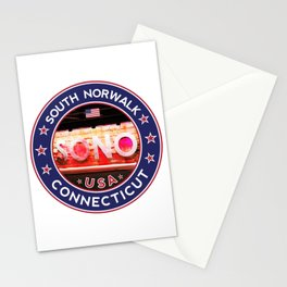 South Norwalk, Connecticut, SoNo Norwalk sticker, t shirt, poster Stationery Cards