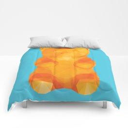 Gummy Bear Polygon Art Comforters