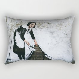 Banksy, Dirty Rectangular Pillow