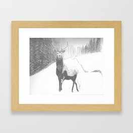 Deerby Framed Art Print