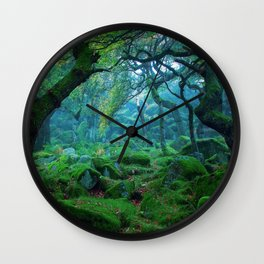 Enchanted forest mood Wall Clock