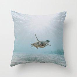 sea turtle iii Throw Pillow