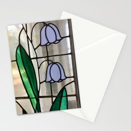 Floral stained glass Stationery Cards
