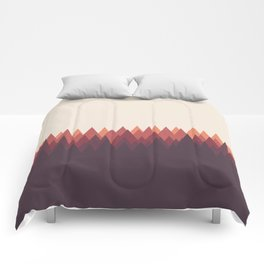 The Forest - Abstract Triangles Geometric Minimal Clean Comforters