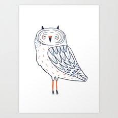 Snow Owl. Art Print