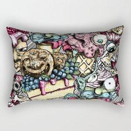 Graphic faces Rectangular Pillow