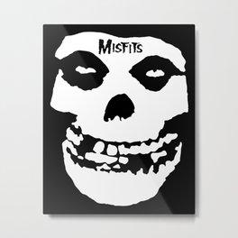Misfit Skull Metal Print