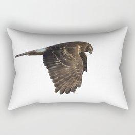 Northern Harrier Hunting, No. 4 Rectangular Pillow