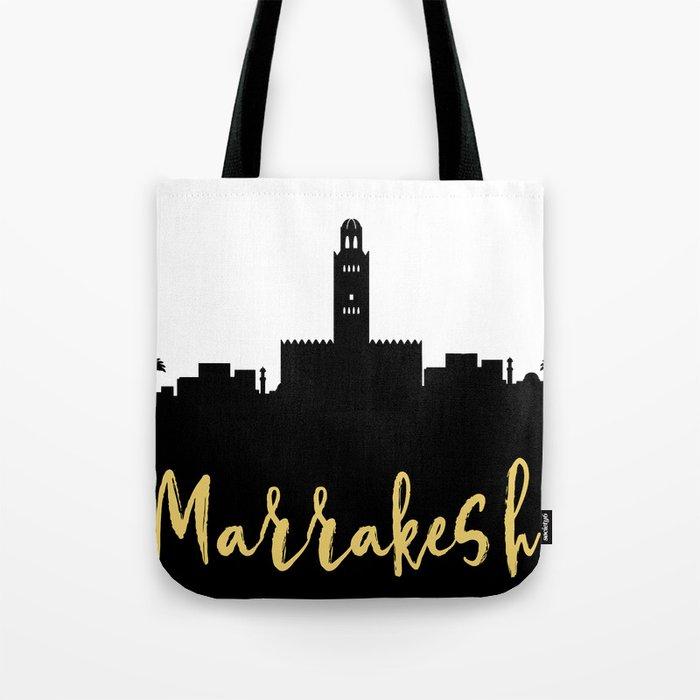 MARRAKESH MOROCCO DESIGNER SILHOUETTE SKYLINE ART Tote Bag