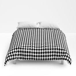 mini Black and White Mini Diamond Check Board Pattern Comforters