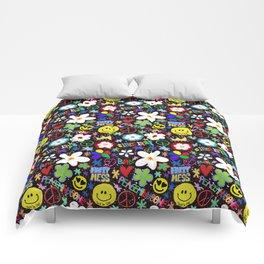 PMO colorful collage Comforters