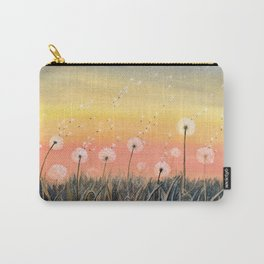 Up, Up and Away - Dandelion Watercolor Carry-All Pouch