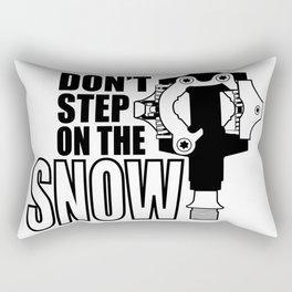 Don't step on the snow - lightbg Rectangular Pillow