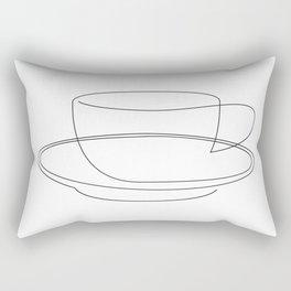 coffee or tea cup - line art Rectangular Pillow