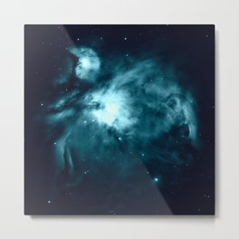Teal Orion nebula : Hauntingly Beautiful Space Series Metal Print