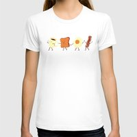 illustration T-shirts featuring Let's All Go And Have Breakfast by Teo Zirinis