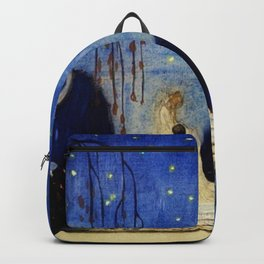 Deserted Moment magical realism landscape painting by Kay Nielsen Backpack