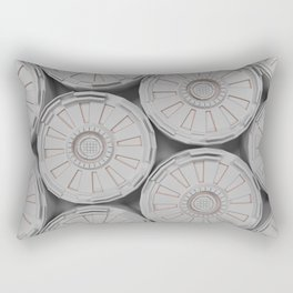 Bright futuristic technological shape with glowing lines Rectangular Pillow