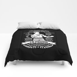 Vintage Boxing - Black Edition Comforters