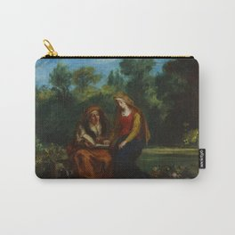 "Eugène Delacroix ""The Education of the Virgin"" Carry-All Pouch"